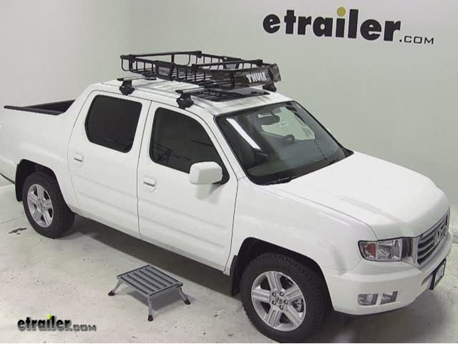 Thule MOAB Roof Top Cargo Basket Review   2013 Honda Ridgeline Video |  Etrailer.com
