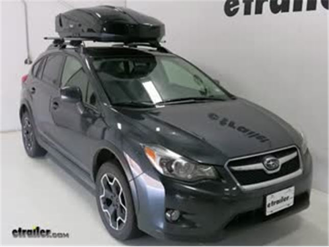Thule Roof Box Review 2014 Subaru Xv Crosstrek Video Etrailer Com