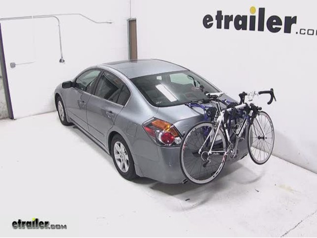 Thule Passage Trunk Mounted Bike Rack Review   2009 Nissan Altima Video |  Etrailer.com