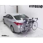 Thule Passage Trunk Mounted Bike Rack Review - 2013 Hyundai Elantra