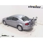 Thule Passage Trunk Mounted Bike Rack Review - 2014 Dodge Avenger