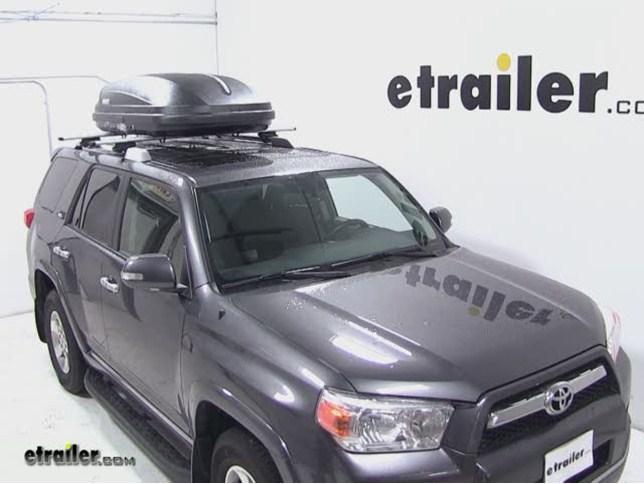 Thule Pulse Medium Rooftop Cargo Box Review 2012 Toyota 4runner Video Etrailer Com
