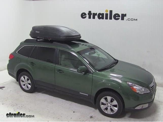 Thule Pulse Medium Rooftop Cargo Box Review 2011 Subaru Outback