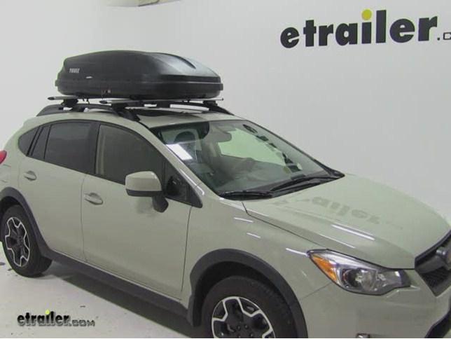 Thule Pulse Medium Rooftop Cargo Box Review 2014 Subaru Xv Crosstrek Video Etrailer Com