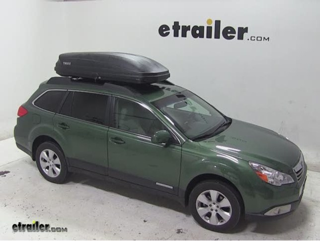 Thule Pulse Large Rooftop Cargo Box Review 2011 Subaru Outback Wagon Video Etrailer Com