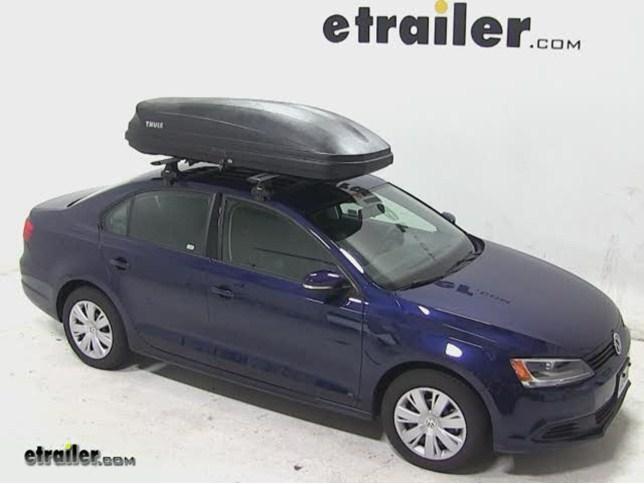 Thule Pulse Large Rooftop Cargo Box Review 2014 Volkswagen Jetta Video Etrailer Com