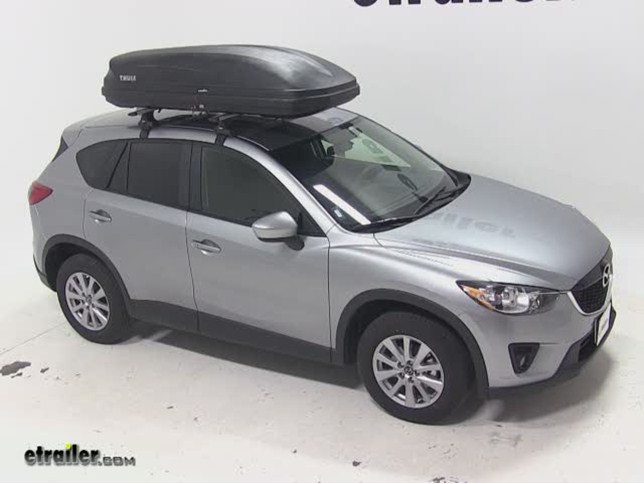 Thule Pulse Large Rooftop Cargo Box Review 2015 Mazda Cx 5 Video Etrailer Com