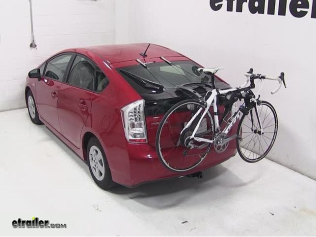 Thule Raceway Trunk Bike Rack Review 2017 Toyota Prius Video Etrailer