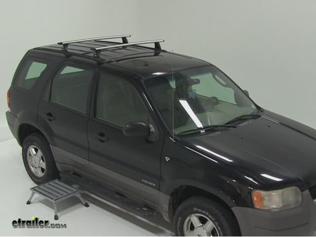 Thule Tracker Roof Rack Foot Pack Installation 2001 Ford Escape Etrailer Com