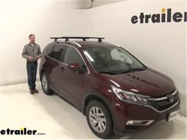 Thule Wingbar Evo Crossbars Installation 2016 Honda Cr V Video Etrailer Com