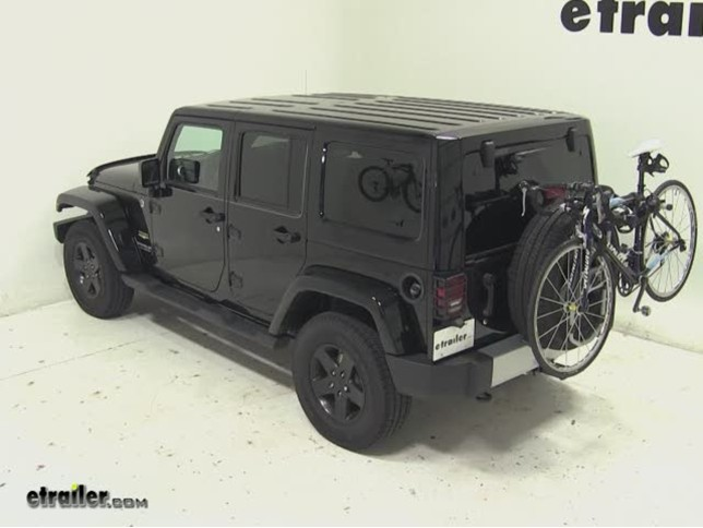 Thule Spare Me Tire Mount Bike Rack Review 2017 Jeep Wrangler Unlimited