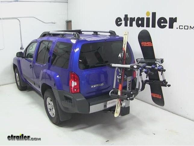 Thule Tram Ski And Snowboard Carrier Adapter Review   2013 Nissan Xterra  Video | Etrailer.com