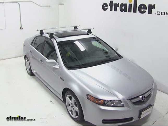 thule aeroblade traverse roof rack installation 2006 acura tl rh etrailer com 2004 Acura TL Owner's Manual Custom 2004 Acura TL Manual