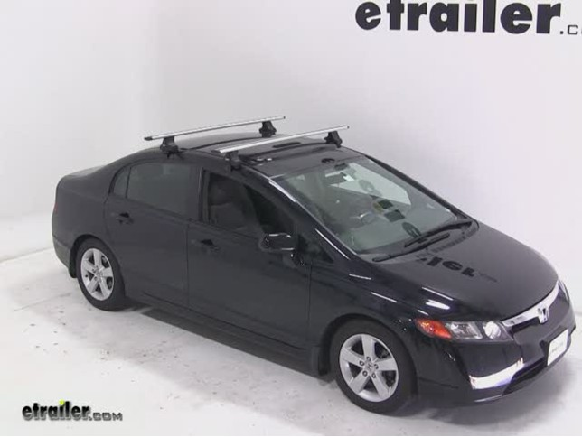 Thule Aeroblade Traverse Roof Rack Installation 2007 Honda Civic Video Etrailer