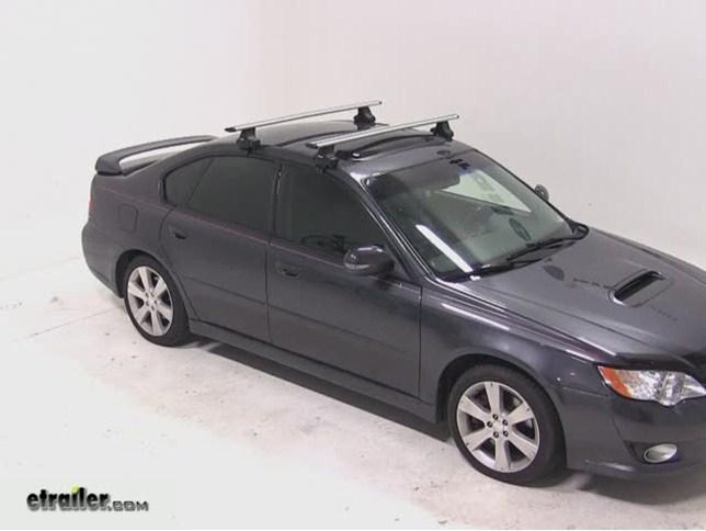 Thule AeroBlade Traverse Roof Rack Installation   2008 Subaru Legacy Video  | Etrailer.com