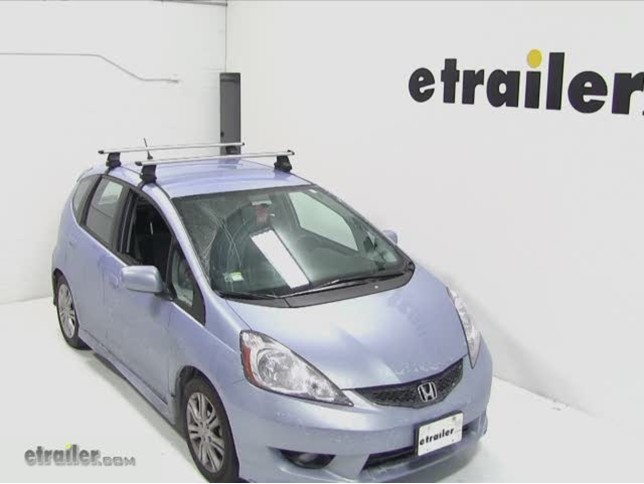 Thule Aeroblade Traverse Roof Rack Installation 2010 Honda Fit