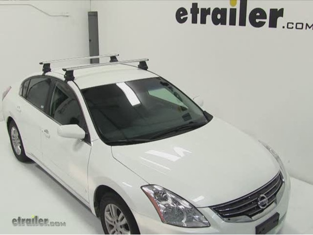 Elegant Thule AeroBlade Traverse Roof Rack Installation   2011 Nissan Altima Video  | Etrailer.com