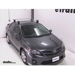 Thule AeroBlade Traverse Roof Rack Installation - 2012 Toyota Corolla