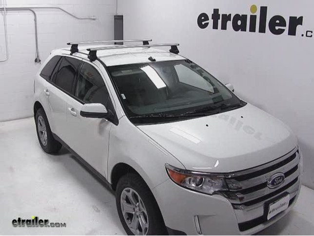 Thule AeroBlade Traverse Roof Rack Installation   2013 Ford Edge