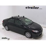 Thule AeroBlade Traverse Roof Rack Installation - 2013 Toyota Corolla