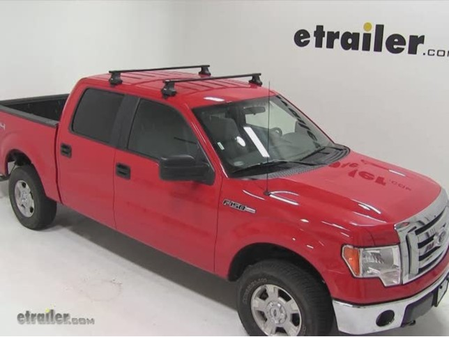 Thule Traverse Roof Rack Installation   2011 Ford F 150 Video | Etrailer.com