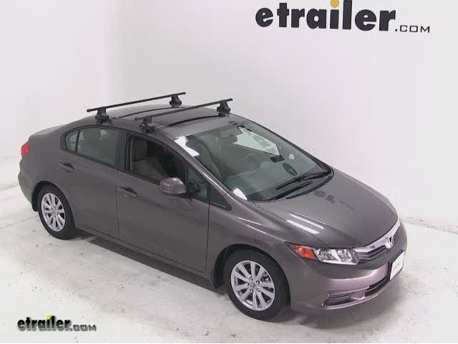 Thule Traverse Roof Rack Installation 2017 Honda Civic Video Etrailer