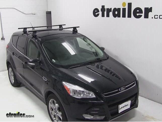 Thule Traverse Roof Rack Installation 2017 Ford Escape Etrailer Com