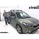 Thule WingBar Evo Crossbars Installation - 2019 Subaru Forester
