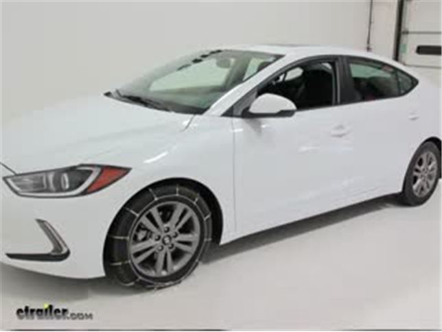 Beautiful Today On Our 2017 Hyundai Elantra, Weu0027ll Be Looking At The Titan Chain  Cable Snow Tire Chains, Part Number TC1034. Keep In Mind That This Is Being  Used With ...