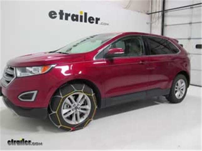 Titan Alloy Snow Tire Chains Installation  Ford Edge