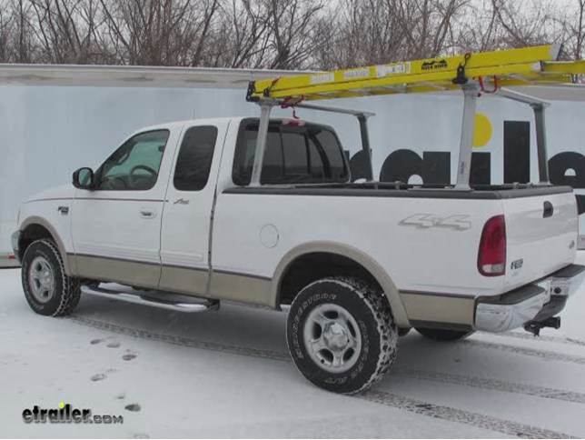 Tracrac Tracone Truck Bed Ladder Rack Installation 2000 Ford F 150 Video Etrailer