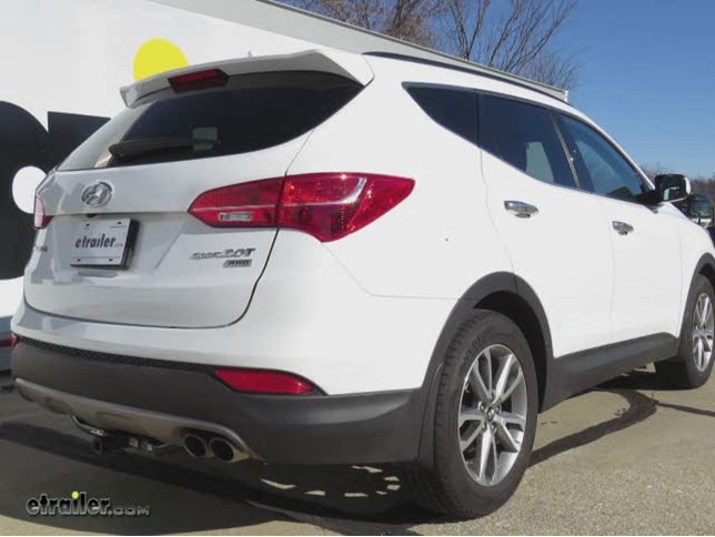 Trailer Hitch Installation 2014 Hyundai Santa Fe Hidden Hitch