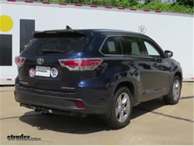 2014 Toyota Highlander Trailer Hitch Draw Tite