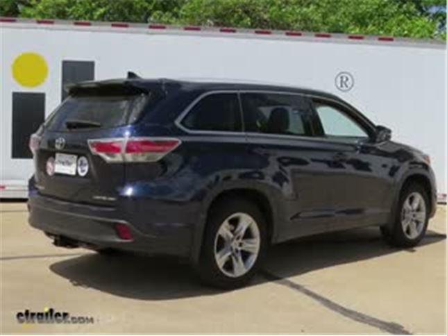 Trailer Hitch Installation 2017 Toyota Highlander Curt Video Etrailer