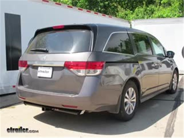 trailer hitch installation 2016 honda odyssey curt video rh etrailer com 2006 honda odyssey trailer hitch wiring 2006 honda odyssey trailer hitch wiring