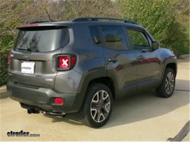 install trailer hitch 2016 jeep renegade c13269_644 trailer hitch installation 2016 jeep renegade video etrailer com