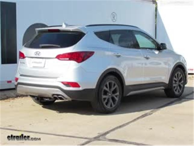 Trailer Hitch Installation 2017 Hyundai Santa Fe Curt Video