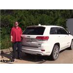 etrailer.com Trailer Hitch Installation - 2017 Jeep Grand Cherokee