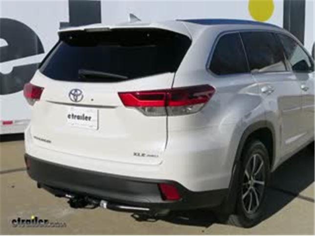 Trailer Hitch Installation 2018 Toyota Highlander Draw E Video Etrailer