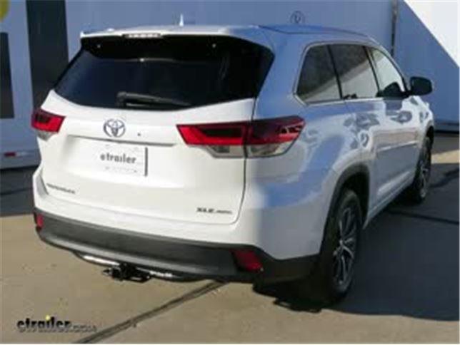 Trailer Hitch Installation 2018 Toyota Highlander Curt Video Etrailer