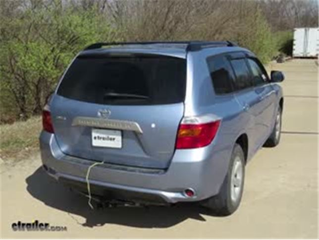 trailer wiring harness installation 2008 toyota highlander video rh etrailer com 2006 toyota highlander wiring diagram pdf toyota highlander brake controller wiring