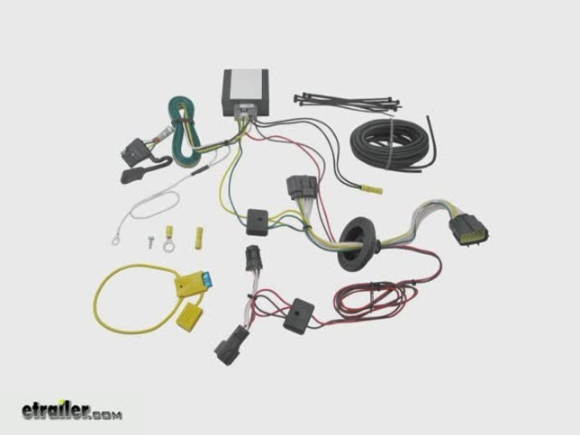 T-One Vehicle Wiring Harness with 4-Pole Flat Trailer Connector on install thermostat, install java, install socket, install drywall, install flooring, install roof,