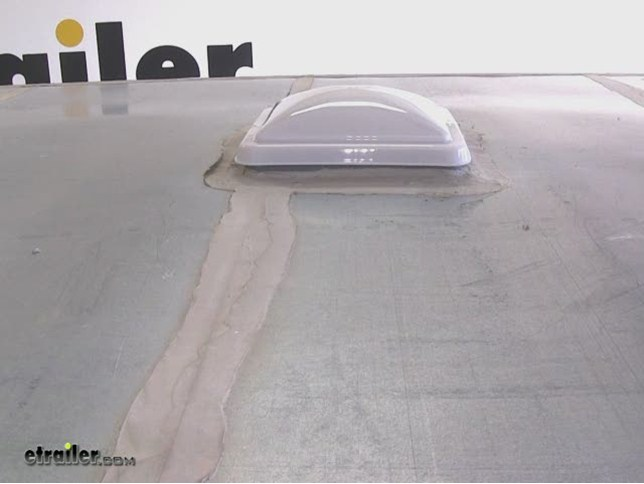Ventline White Plastic Enclosed Trailer Vent Cover Installation Video |  Etrailer.com