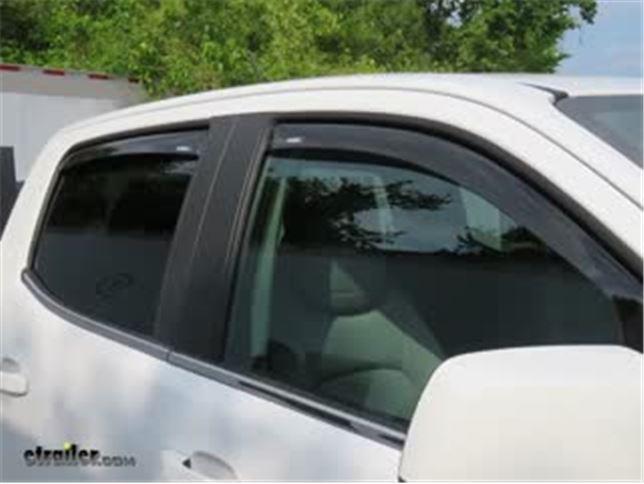 Weathertech Side Window Deflectors >> Weathertech Side Window Air Deflectors With Dark Tinting Front 2 Piece
