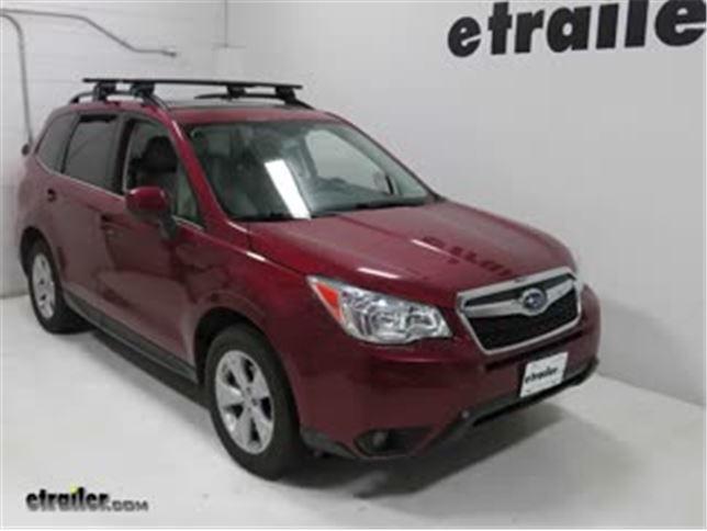 Yakima Roof Rack Review 2015 Subaru Forester Video Etrailer Com
