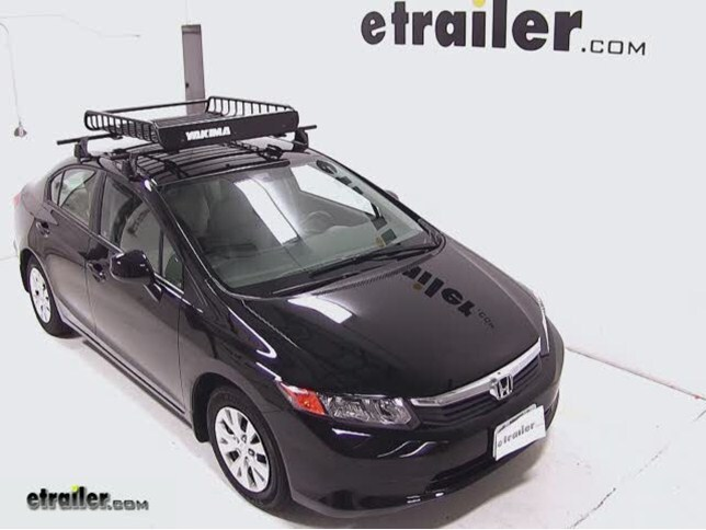 Yakima Loadwarrior Roof Cargo Basket Review 2017 Honda Civic Video Etrailer