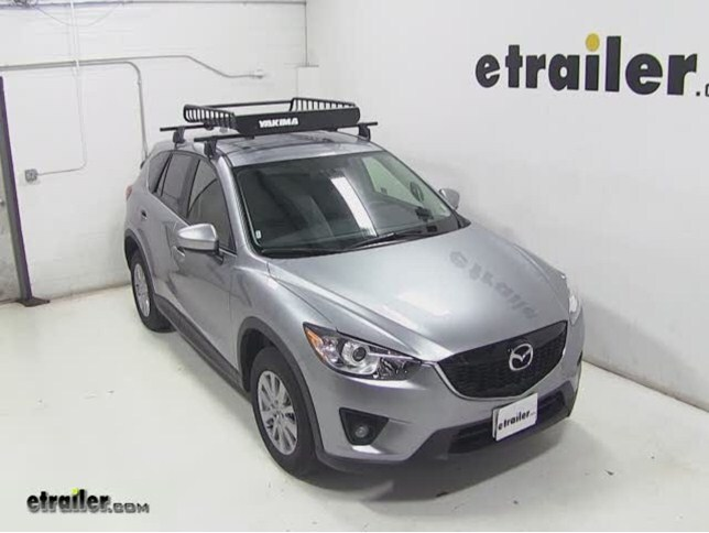 Yakima LoadWarrior Roof Cargo Basket Review   2015 Mazda CX 5 Video |  Etrailer.com