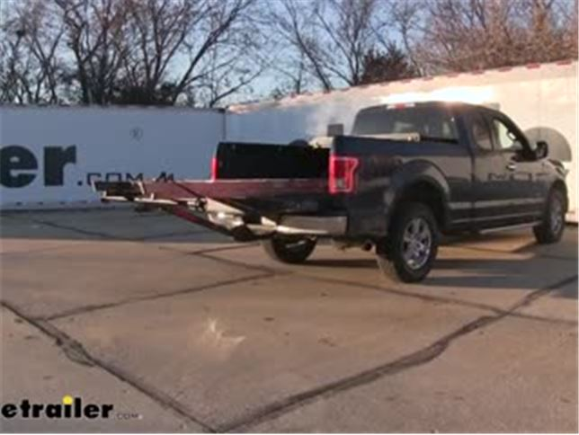 Yakima Longarm Truck Bed Load Extender 2 Hitches Aluminum 300 Lbs