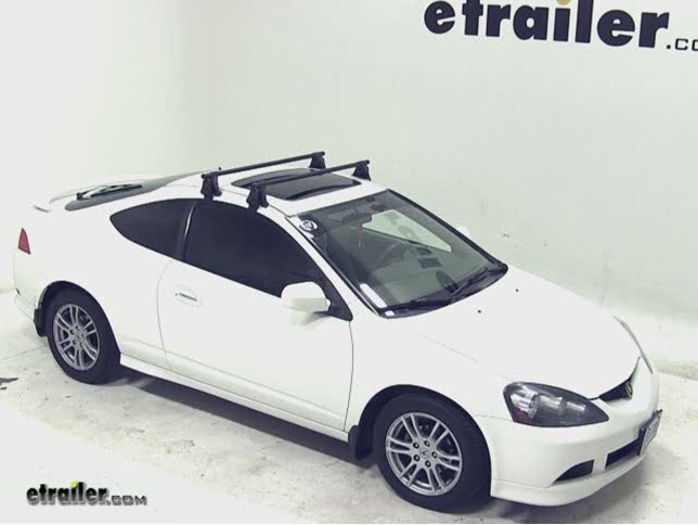yakima q tower roof rack installation 2006 acura rsx video rh etrailer com 2004 Acura RSX Type S 2002 Acura RSX Black