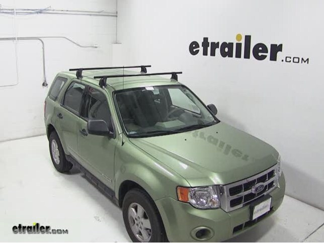 Yakima Q Tower Roof Rack Installation 2008 Ford Escape Video Etrailer